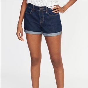 Old Navy Mid-Rise cuffed denim shorts
